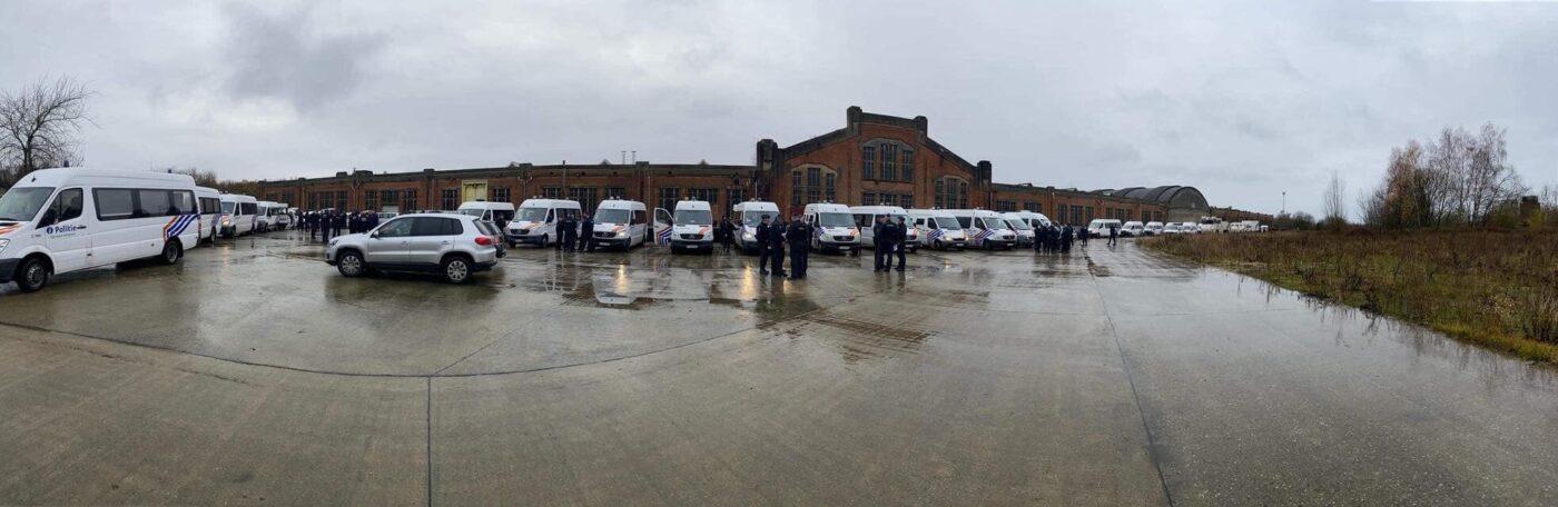 Photo du dispositif policier mis en place à Arlon le 29 novembre 2019